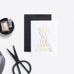 'TO THE MOON & BACK' CARD